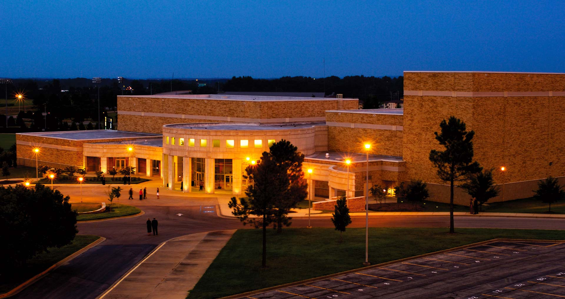 The Fowler Center at night