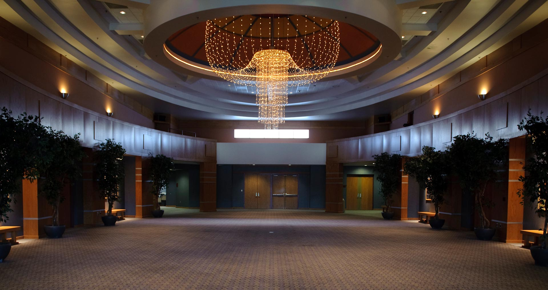 The Grand Hall and draping chandelier