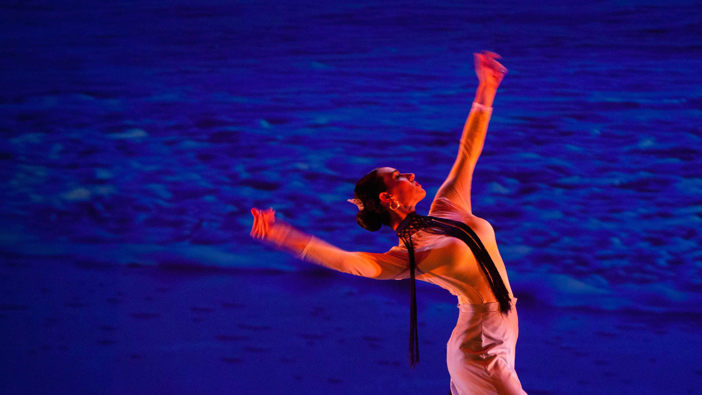 A dancer performs in the A'lante Flamenco production.